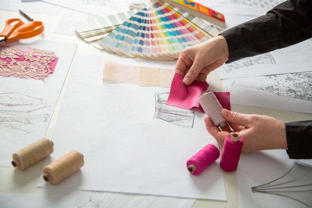 cartela de cores moda