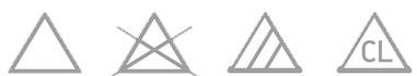 Como fazer etiquetas de roupas - simbolos de alvejante