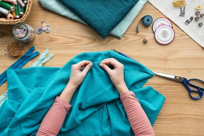como cortar tecido - lado e direção