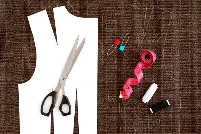 como cortar tecido - molde