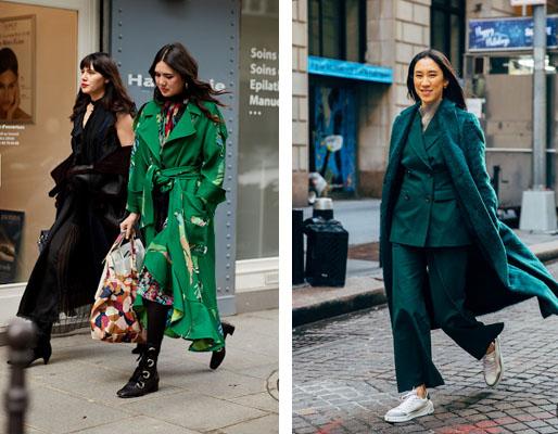 moda inverno 2020 - verde