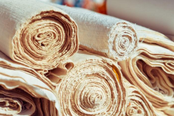 tecidos enrolados